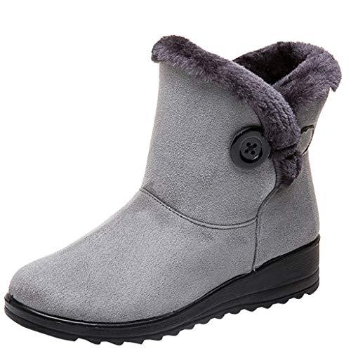 Luckycat Zapatillas casa Pantufla Invierno Suaves Peluche Caliente Zapatos Invierno Mujer Botas de Nieve Casual Calzado Piel Forradas Calientes Planas Outdoor Boots Antideslizante Zapatillas Mujer