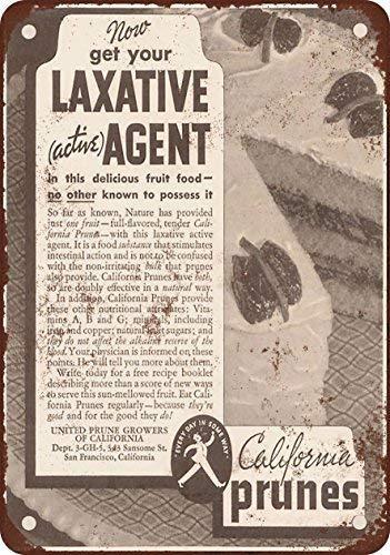 SIGNCHAT 1935 California Prunes para laxeermiddelen metalen tin teken 8x12 inch