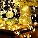 Idefair Luces LED de cadena de hadas, 10M 83LED Luces de alambre de plata de hadas...