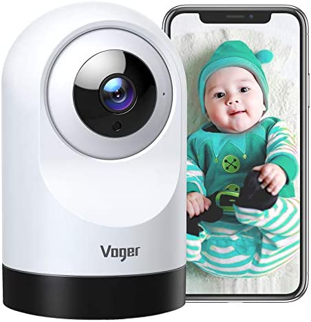 Voger Baby Monitor 360 degree Wi Fi Home Security Camera PTZ Indoor Camera with 1080P IR Night product image
