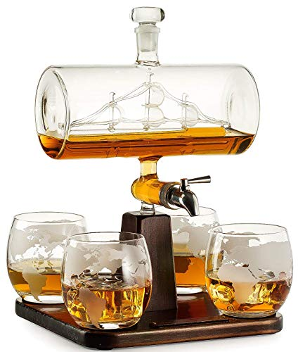 Glass Ship in a Bottle Decanter, A Piece of Art