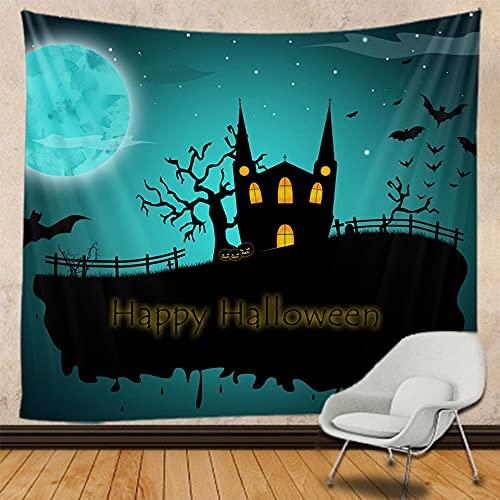 PPOU Halloween decoración del hogar Tapiz Mandala Colgante de Pared Hippie brujería Fondo Bohemio Tela Manta Tela Colgante A2 180x200cm