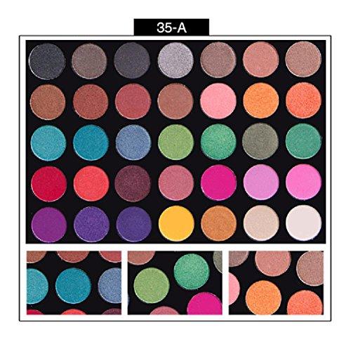 Coloré(TM) Palettes de maquillage 35 couleurs Shimmer mat ombre à paupières ombre à paupières palette Pro cosmétique maquillage outil (B)