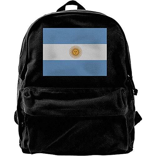 Yuanmeiju Mochila de Viaje, Mochila clásica de Lona, Mochilas Escolares universitarias, Mochilas para computadora, Mochila Informal con la Bandera de Argentina, Bolsa para computadora portátil