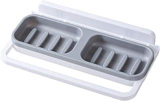 石鹸置き 浴室用ラック 壁掛け ソープホルダー 強力粘着固定 ソープディッシュ 浴室収納 小物整理 シャワーラック洗面所/調味料 お風呂用とキッチン用