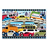 """Melissa & Doug Traffic Jam Floor Puzzle (Beautiful Original Artwork, Sturdy Cardboard Pieces, 24 Pieces, 24"""" L x 36"""" W, Great Gift for Girls and Boys - Best for 3, 4, and 5 Year Olds)"""