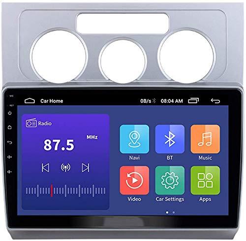 ZHFF Car Stereo Android 10.0 Radio Compatible Touran 2003-2010 Navegación GPS Unidad Principal de 9 Pulgadas Pantalla táctil Reproductor Multimedia MP5 Receptor de Video con 4G WiFi Car In-Dash Video