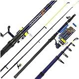 BZS Angling Pursuits Ensemble de canne à pêche télescopique avec bobine et accessoires