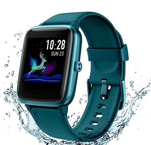 Arbily Smartwatch, Fitness Armband Voller Touchscreen Uhr, IP68 Wasserdicht Armbanduhr, Smart Watch mit Schrittzähler Pulsmesser Stoppuhr für Herren Jungen Sportuhr