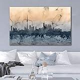 ganlanshu Arte Abstracto Ciudad Paisaje Lienzo Imagen Sala decoración Pintura sin Marco Pintura 60cmX90cm