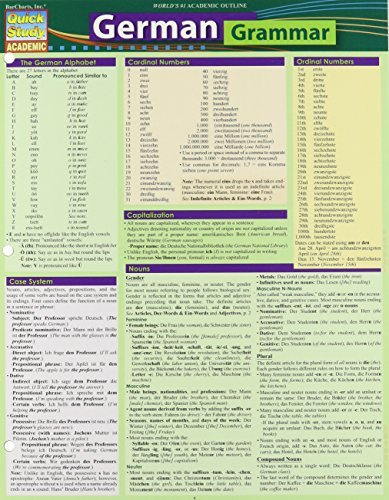 German Grammar (Quick Study Academic) [5/31/2014] Ph.D. Listen Paul