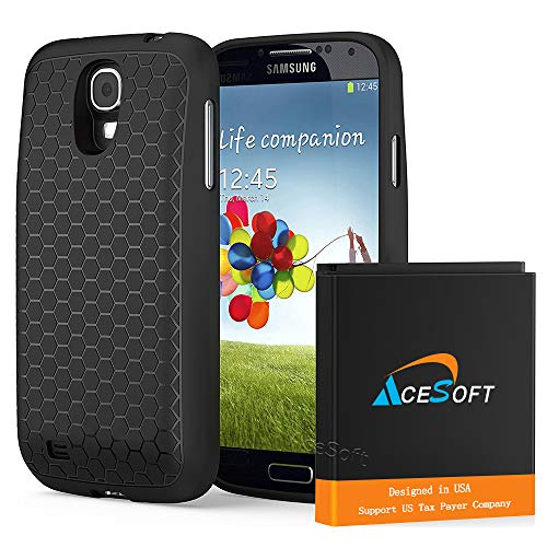 AceSoft 6400mAh Samsung Galaxy S4 Mini Extended Battery + Battery Back Cover + TPU Case for U.S. Cellular Samsung Galaxy S4 Mini R890