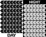 Biomar Labs® 56pcs Negro Kit de Pegatina Cinta de Advertencia Flecha de Seguridad Reflectiva Reflectante Vinilo Adhesivo Coches Cascos Motos Ciclomotores Bicicletas Ordenador Portátil D 50