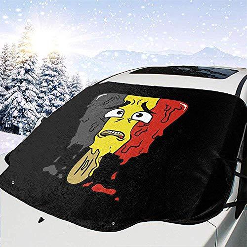 Alice Eva Belgisches EIS am Stiel schmilzt Autosonnenschutz-Windschutzscheiben-Abdeckung, die für alle Autos und Jahreszeiten geeignet ist