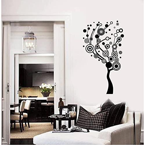 Xiaopang Pegatinas de pared de vinilo de árbol abstracto, pegatinas de pared de árbol de círculo pegatinas de pared de sala de estar arte pegatina murales hermosa decoración del hogar Cx01