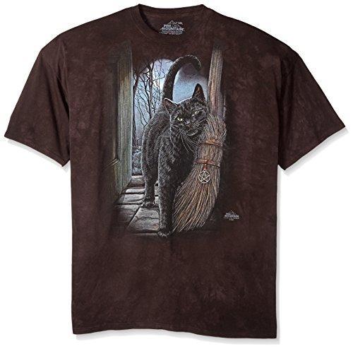 The Mountain A Brush With Magic Adult T-Shirt, Black, Medium