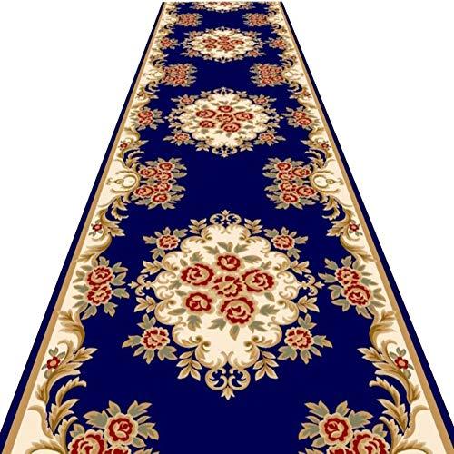 WEIJINGRIHUA Pasillo Corredor Alfombras Antideslizante Cocina Hall Grande Felpudo Larga Y Estrecha Utilidad Mat, 7 Mm, Pasillo Escalera De Alfombra del Pasillo (Color : Blue, Size : 1x2m)