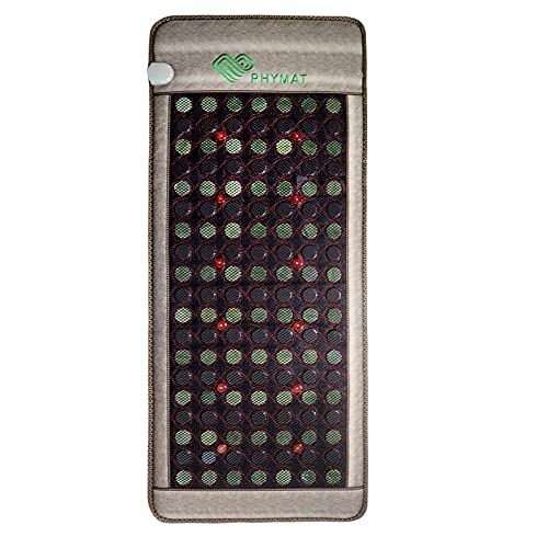 PHYMAT Large Size Far Infrared Heating Pad - Natural Jade Tourmaline Stone - Red Light Infrared Heating Mat - Jade Heating Pad with Auto Shut Off - Overheat Protection,Smart Control(67'x27')
