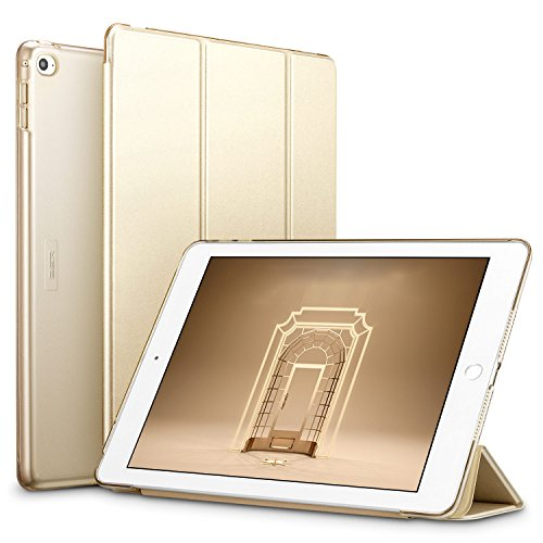 ESR Coque/Étui de Protection pour iPad Air 2 (2014) de 9,7 Pouces (A1566/A1567), Coque Rigide & Ultra Fin doté de Rabat Smart Cover, Veille/Réveil Automatique de l'écran (Or Champagne)