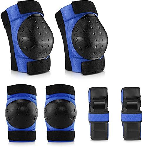 IPSXP Protecciones Patines, Almohadillas para Rodillas Codo Muñeca Niños Adolescente Seguridad en la Protecciones para Monopatín, Skate, Patines, Patinaje, Scooter, Bicicleta(M)