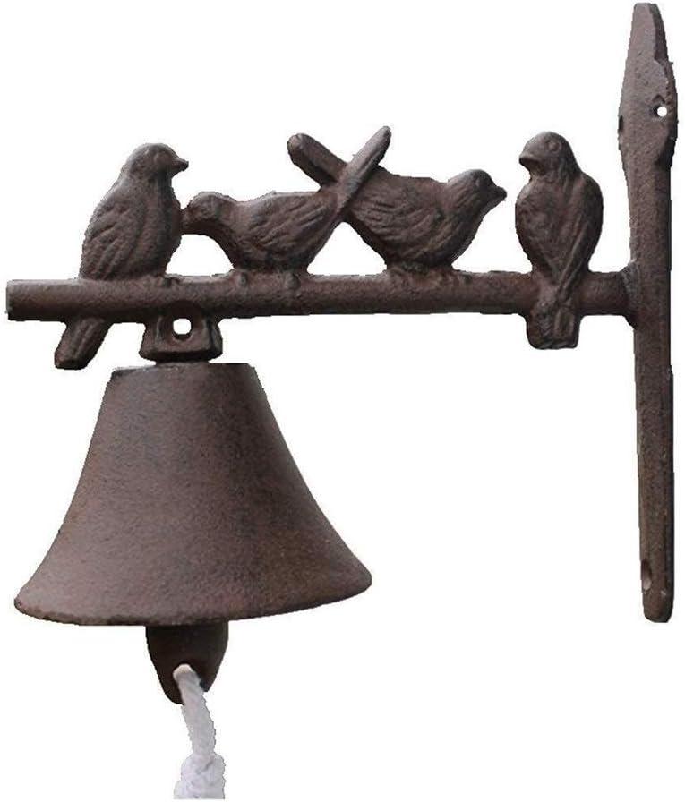 Nashville-Davidson Mall KAKM Doorbell Deluxe Wall Mounted Bell Cast Mount Birds Door Iron