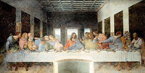 LAMINATED 47x24 inches POSTER: Painting Last Supper Artwork Mural Leonardo Da Vinci L'Ultima Cena Seccotechnik Dominican Monastery Santa Maria Delle Grazie Milan Italy
