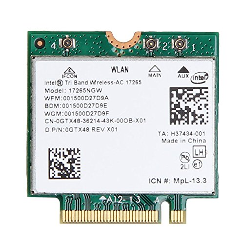 Intel Tri-Band AC 17265 WiGig 802.11ad & Wi-Fi 802.11ac/agn + Bluetooth 4.0 Combo M.2 key A Wireless Adapter not for IBM/Lenovo/Thinkpad and HP