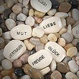 Annastore 10-TLG. Set Glückssteine mit Spruch Gastgeschenke Steine