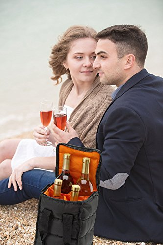 HandyLaundryワインバッグワインボトルホルダーキャリートートバッグ4本用ピクニックキッチン雑貨外出用ギフトプレゼントおしゃれ[並行輸入品]