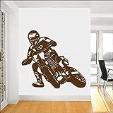 Calcomanía de pared de motocicleta Racing Motocross Bike Sport Boy vinilo adhesivo para ventana dormitorio adolescente sala de juegos decoración del hogar Mural artístico