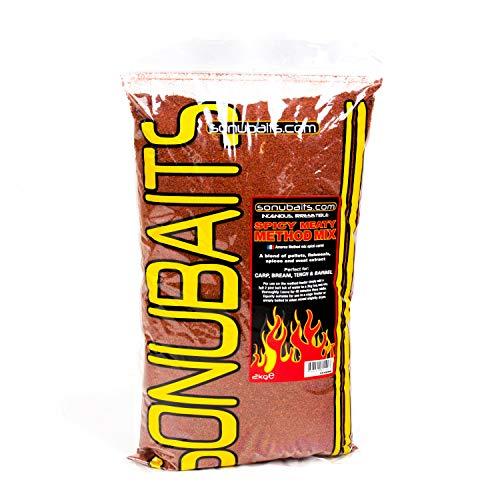 Sonubaits 2kg Spicy Meaty Method Mix Futter für Karpfen Schleien