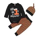 Conjunto de ropa de Halloween para bebé, recién nacido, niña, niño, con diadema y sombreros.