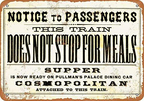 Preisvergleich Produktbild This Train Does Not Stop Blechschilder Vintage Metall Poster Retro Schild Original Blechschild Plakette Poster Zum Bar Cafe Garage Tankstelle Zuhause Verein