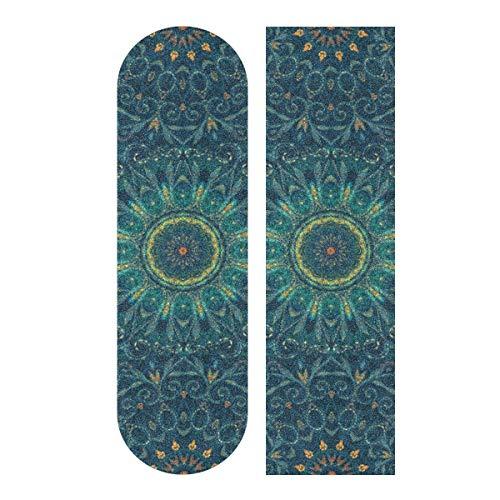 N\A 33.1x9.1inch Sport Outdoor Farbiges Skateboard Griffband Particlar Großes buntes Palace Print Wasserdichtes Longboard Griptape für Tanzbrett Double Rocker Board Deck 1 Blatt