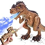 RC Dinosaur Toys Realistic Walking TRex Toy - Shooting Game Battle Attack Action Figure Jurassic Multifunctional Tyrannosaurus Rex Good Dinosaur Toys for Kids Boys Girls 3+, More Functions Available