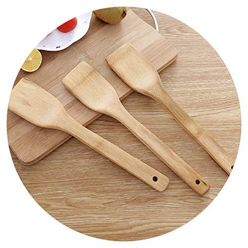 1 Stück Natural Health Bambusholz Küche Schlitz Spachtel Löffel Rührlöffel Küchenutensilien Essen Wokschaufel Supplies size farbe