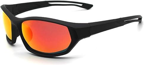 LATEC Sportzonnebril, Gepolariseerde Sportzonnebril met UV400-bescherming & TR90 Onbreekbaar Frame, voor Heren Dames Buite...