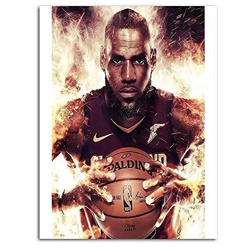 Ghychk Basketball Art Collection Art Prints LeBron-James 3D Wall Art Home Decoration for Living Room Bedroom Home Decorations No Framed 12 x 18 Inch