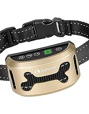 GoPetee Collar Antiladridos Recargable para Perros Pequeños Medianos y Grandes Collar Adiestramiento Recargable para Perros Sonidos y Vibraciones Audibles Chip Avanzado (Hueso)