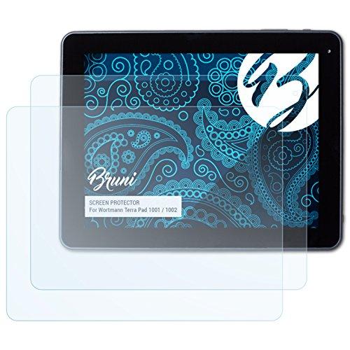 Bruni Schutzfolie kompatibel mit Wortmann Terra Pad 1001/1002 Folie, glasklare Displayschutzfolie (2X)