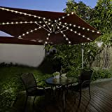 Zoom IMG-1 ombrello gardenkraft 13880 bianco caldo