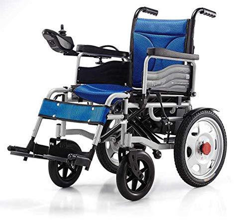 KFDQ - Silla de rehabilitación, plegable, ligera, 34 kg, resistente y duradera para el uso, sillas de ruedas motorizadas, cómodas para el hogar y el exterior