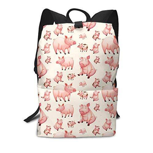 Homebe Pig Cute Pink Mini Funny Rucksäcke,Daypack,Schulrucksack Für Jungen und Mädchen School Travel Hiking Small Gym Teen Little Girls Youth Boy Women Men Kids Backpack Mini Book Back Bag Bookbag