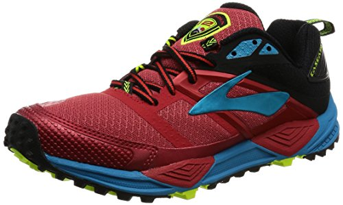 Brooks Cascadia 12, Zapatillas de Gimnasia Hombre, Rojo (High Risk Red/Black/Vivid Blue), 42.5 EU