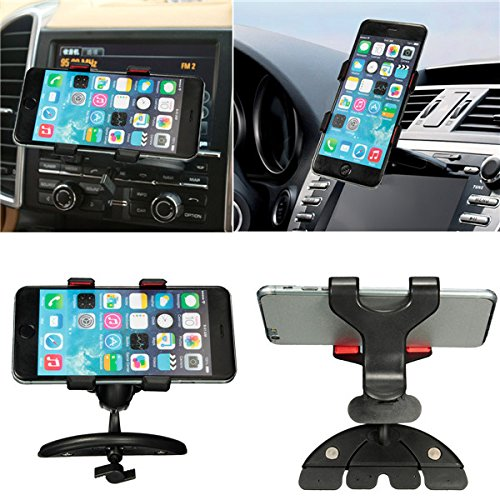 EsportsMJJ 360° Universele Auto CD Slot Mount Houder Stand Voor iPhone Samsung Galaxy Cellphone GPS