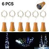 6 Stück 10 LED Solarenergie Flaschenlichter Lichterketten mit 1M kupferner Draht-Form-Stablampe...