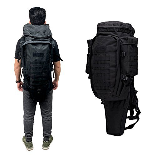 GEARDO Tactical Military Hunting Survival Fishing Airsoft Gear Gun Rifle Backpack Case Black