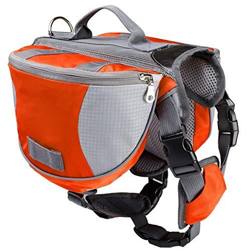 Yagoal Hunderucksack Hundetragetasche Hunderucksack Hundereisezubehör Hundereisetasche Dogs Self Rucksack Haustier Rucksack Haustier Schultasche orange,l