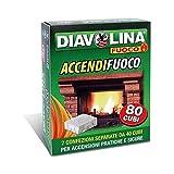 Diavolina Accendifuoco 80 Cubi