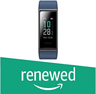 (Renewed) PLAYFIT Smart Band, Button Touch, Colour Display(Blue)